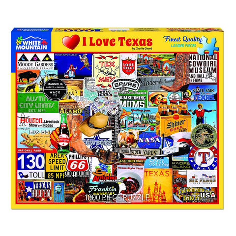 I Love Texas | 1000 Piece Puzzle