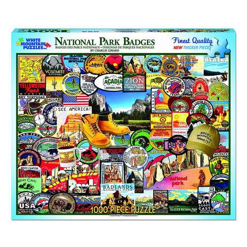 National Park Badges | 1000 Piece Puzzle