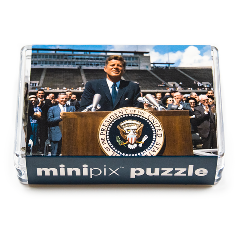 1962 Rise University Kennedy speech 140 piece mini puzzle