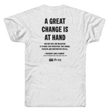 """A Great Change is at Hand"" JFK Quote T-shirt by President John F. Kennedy"