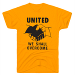 """United We Shall Overcome"" JFK Quote T-Shirt in Goldenrod"