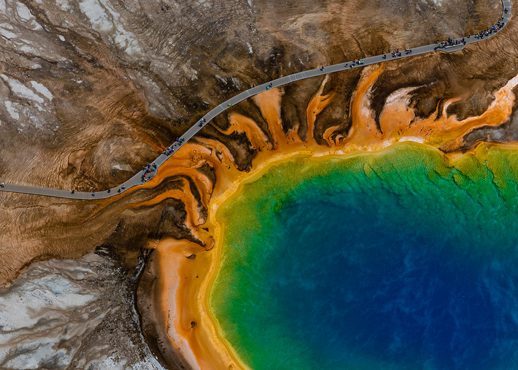 Over Grand Prismatic (Yellowstone 1), 2015