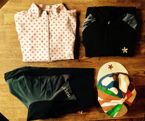 Huez packing essentials, Starman Bibs, Race Day Jersey and the Cosimo Cap