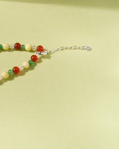 Sunrise Bead Party Necklace
