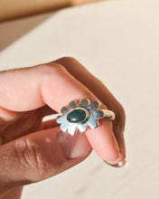 Load image into Gallery viewer, Scallop Ring | Recycled Silver and Jade | Size UK M