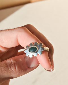 Scallop Ring | Recycled Silver and Jade | Size UK M