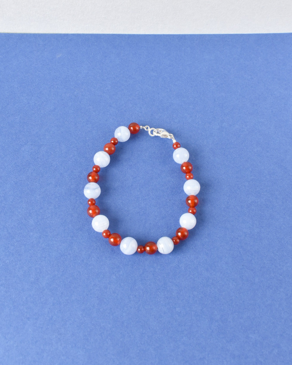 Raspberry Pavlova Bead Party Anklet