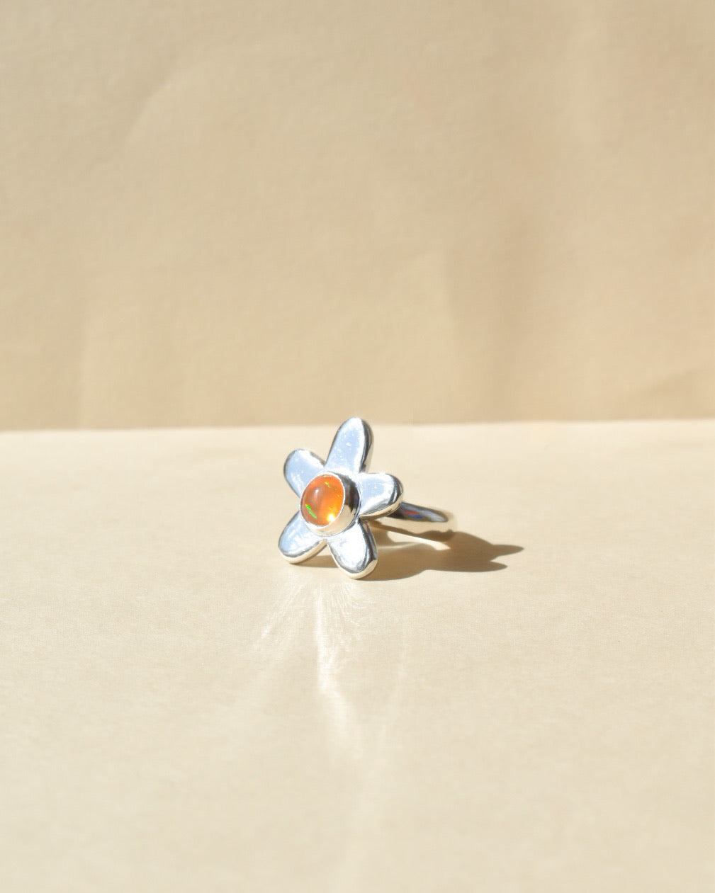 Jelly Ring | Recycled Silver and Jelly Opal | Size UK L