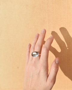 Glacier Mint Ring | Recycled Silver and Montana Agate | Size UK N