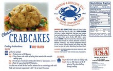 Load image into Gallery viewer, 4 oz Classic Crab Cakes