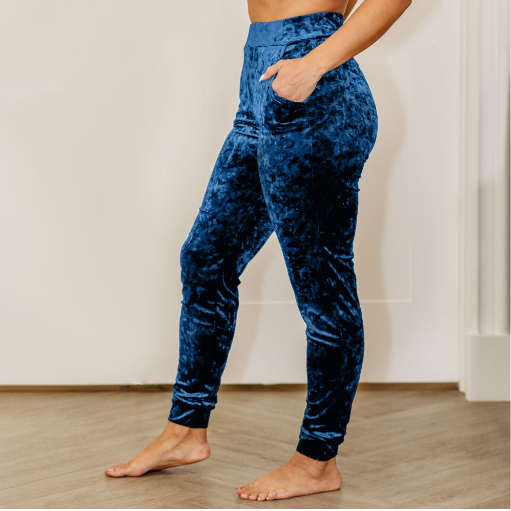 ROYAL BLUE TAILORED JOGGERS - Vanity Couture