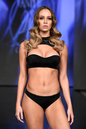 Alexis Luxury High Neck Cut Out Open Back Bikini | Vanity Couture Runway Miami Swim Week