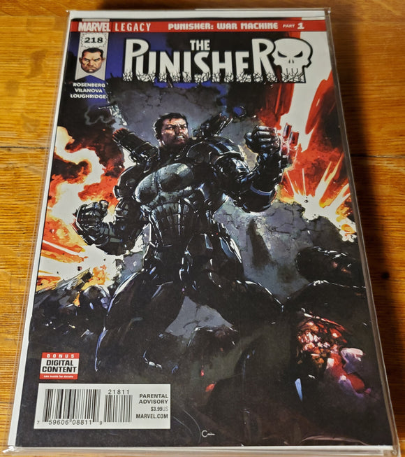 Punisher 218 1st Punisher as Warmachine Key NM/NM-