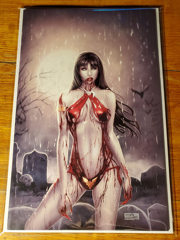 Vampirella Indiegogo Mindy Wheeler Exclusive w/ trading card.