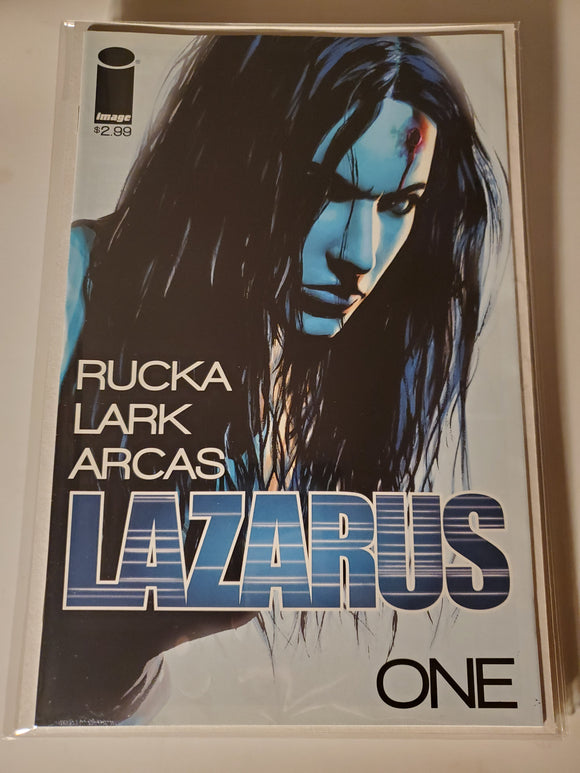 Lazarus #1 NM Image Comics 2013 1st PTG Cover A // Mylar Bag & Board