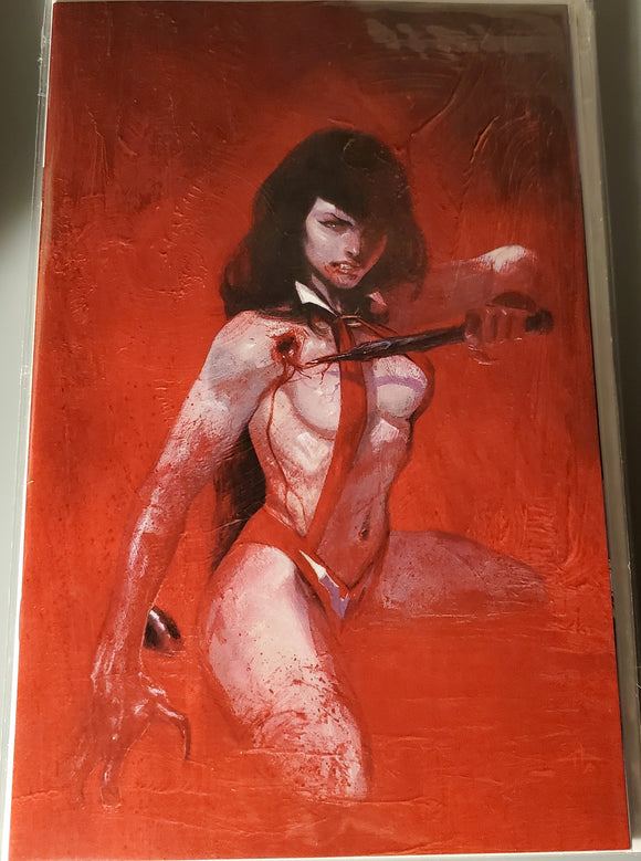 VAMPIRELLA TRIAL OF THE SOUL 1 GABRIELE DELL'OTTO RED VIRGIN VARIANT LTD TO 666