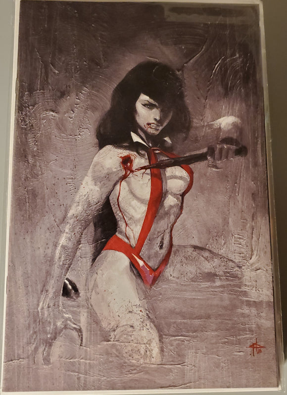 VAMPIRELLA TRIAL OF THE SOUL 1 GABRIELE DELL'OTTO GREY VIRGIN VARIANT LTD TO 666