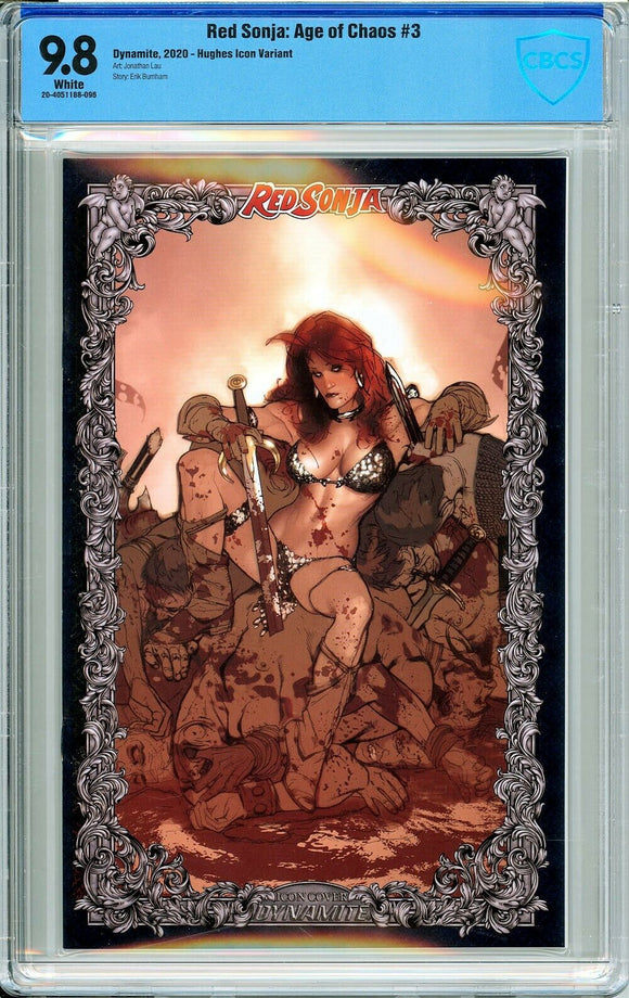 Red Sonja: Age of Chaos #3 Adam Hughes Icon 1:60 Incentive Variant - CBCS 9.8!