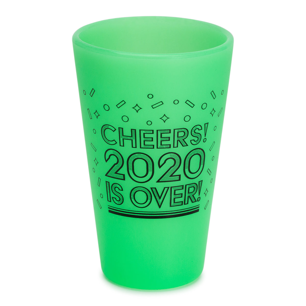 16oz NYE Pint Glasses - Glow in the Dark Green