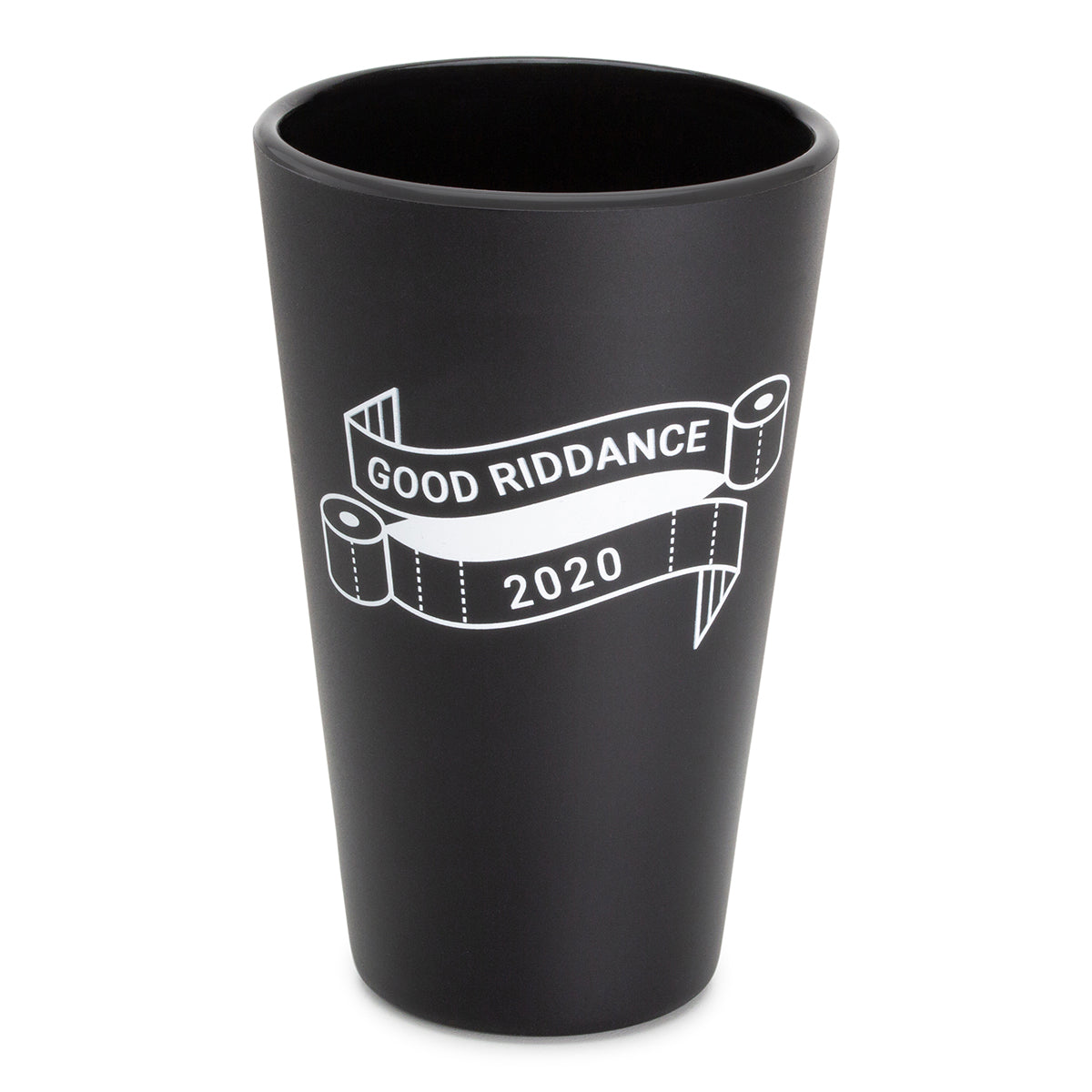 16oz NYE Pint Glasses - Bouncy Black