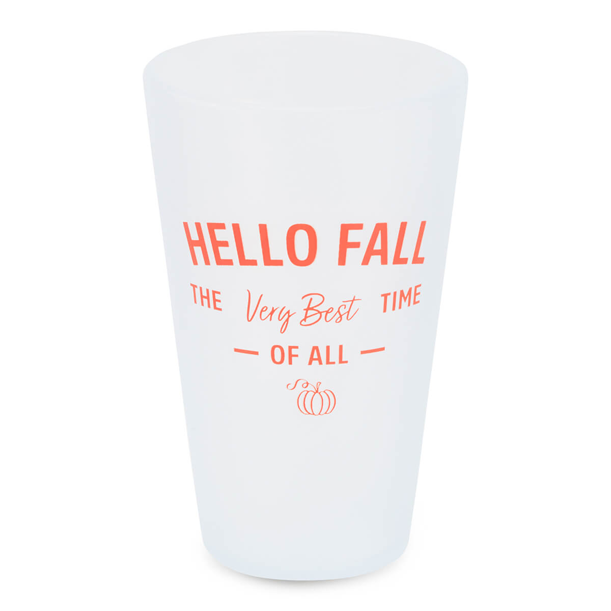 16oz Custom Fall Pint Glass - Frosted White