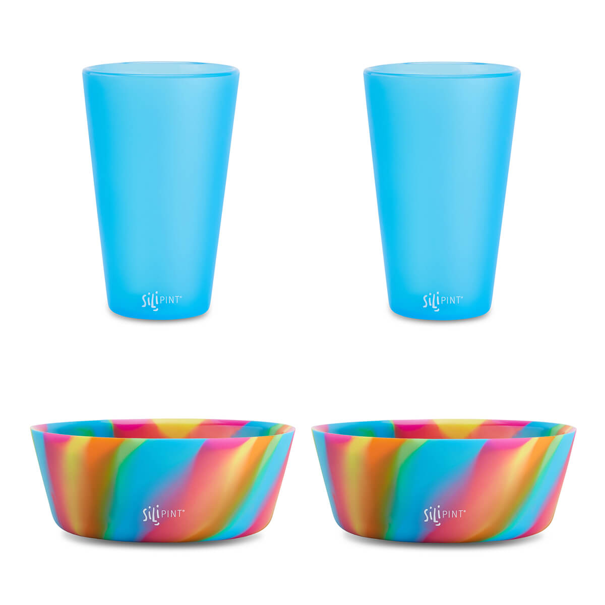 4 Pack - (2) 16oz Pint & (2) Bowl Set - Assorted
