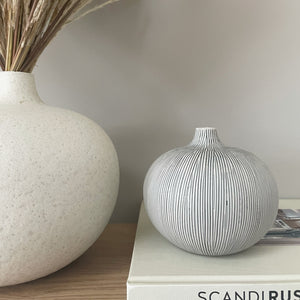 grey striped bud vase price and coco interiors