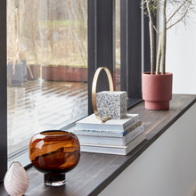 Load image into Gallery viewer, brown round vase price & coco interiors