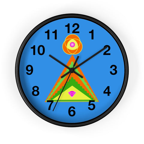 Wall Clock (Numbers) - Diamond Pyramid