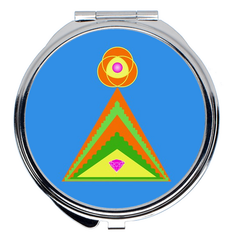 Compact Mirror - Diamond Pyramid