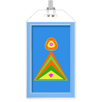 Luggage Tag - Diamond Pyramid