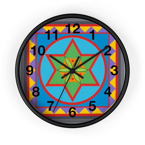 Wall Clock (Numbers) - Emerging Flower