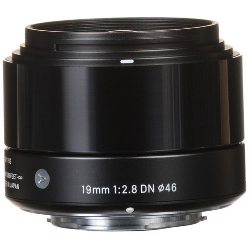 Sigma 19mm f/2.8 DN Lens for Micro Four Thirds Cameras (Black) (International Model) (No Warranty)