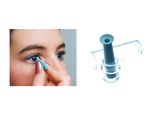 DMV Classic Vented Hard Contact Lens Remover (Blue, 3 Packs)