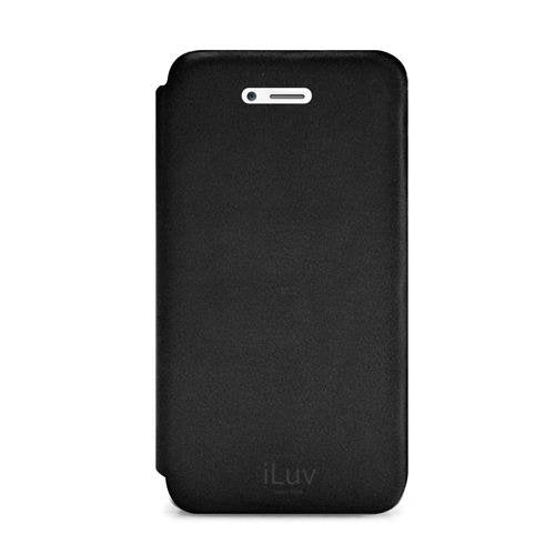 iLuv ICA7J346BLK Pocket Agent Premium Appointed Leather for Apple iPhone 5 - 1 Pack - Retail Packaging - Black