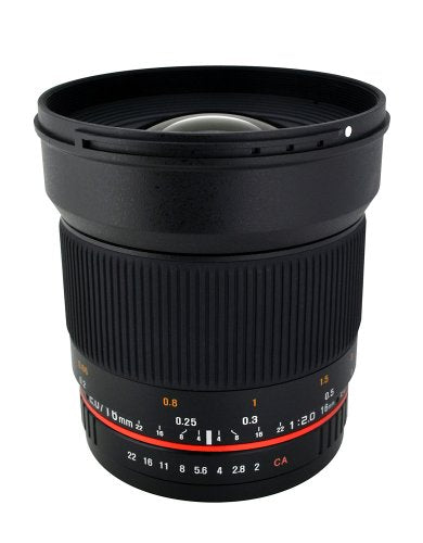 Rokinon 16M-FX 16mm f/2.0 Aspherical Wide Fixed Angle Lens for Fuji X