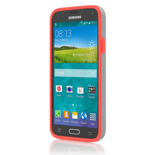 Incipio Stowaway for Samsung Galaxy S5 - Gray/Neon Orange