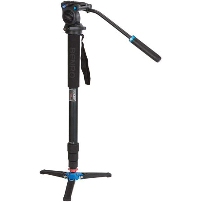 Benro Aluminum 3 Series Twist-Lock Video Monopod Kit w/ 3-Foot Articulating Base and S2 Video Head (A38TDS2)