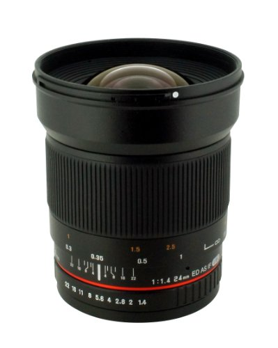 Rokinon 24mm F/1.4 Aspherical Wide Angle Lens for Olympus 4/3 RK24M-O