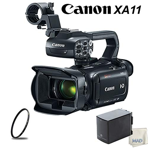 Canon XA11 Compact Full HD Camcorder Bundle with High Capacity Battery & UV Filter