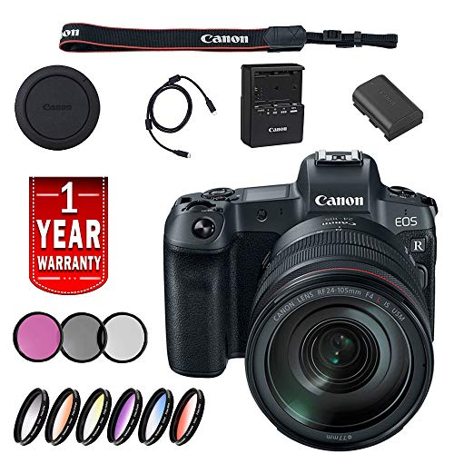 Canon EOS R Mirrorless Digital Camera International Model W/ 24-105 Lens Base Bundle With More