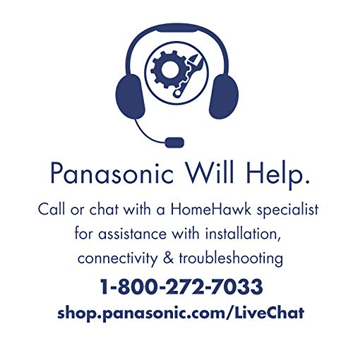 HomeHawk by PANASONIC Add-on Home Monitoring Peripheral HD Camera, Color Night Vision, Wireless, 2 Way Talk, Works with