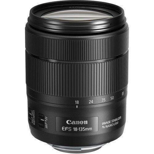 Canon 1276C002-IV EF-S 18-135mm f/3.5-5.6 Image Stabilization USM Lens (Black) (International Model) No Warranty [Bulk Packaging