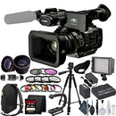 Panasonic AG UX180 4K Professional Camcorder with Lens Enhancement Bundle