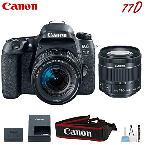 Canon EOS 77D Digital SLR Camera with 18-55mm Lens Kit (International Model)
