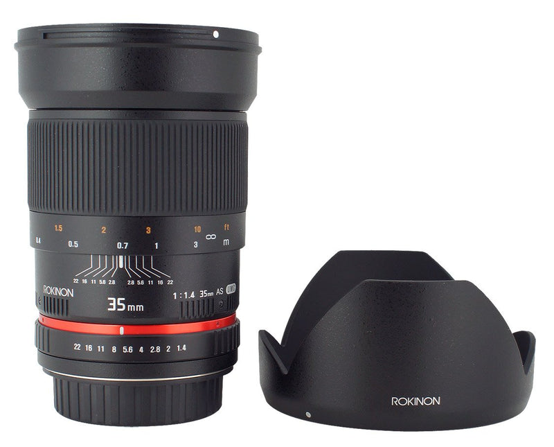 Rokinon 35mm F/1.4 AS UMC Wide Angle Lens for Olympus RK35M-O