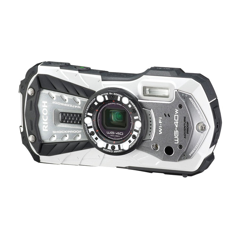 RICOH Waterproof digital camera RICOH WG-40 White(Japan Import-No Warranty)