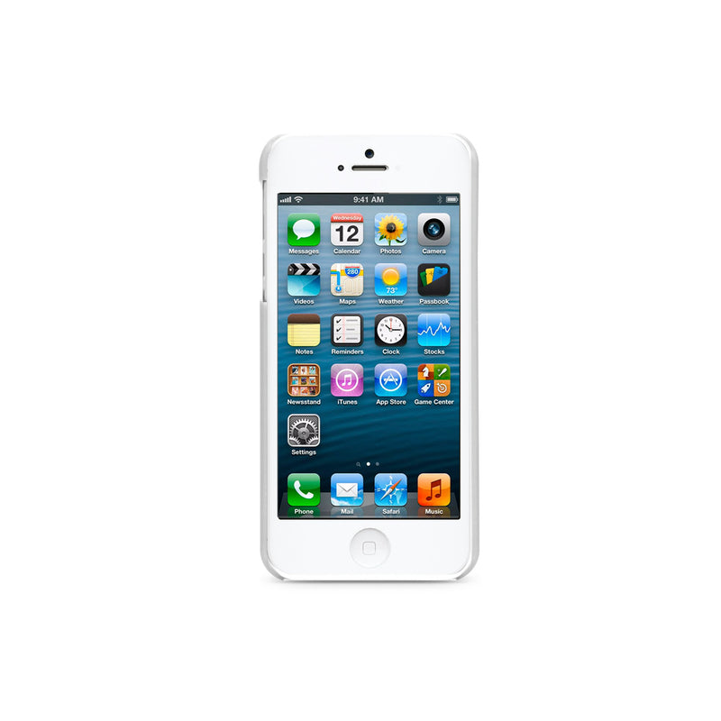 iLuv ICA7H305WHT Overlay Translucent Hardshell Case for Apple iPhone 5 and iPhone 5S - 1 Pack - Retail Packaging - White