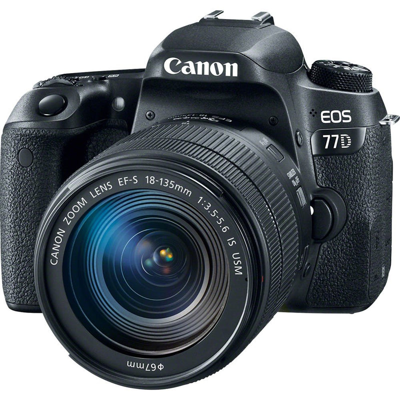 Canon EOS 77D Digital SLR Camera with 18-135mm & 55-250mm Lenses Kit (International Model)