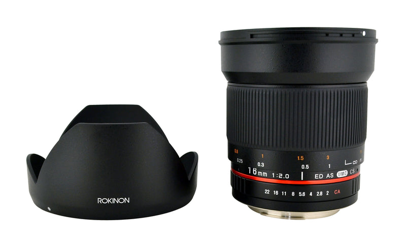 Rokinon 16M-NX 16mm f/2.0 Aspherical Wide Angle Lens for Samsung NX Cameras